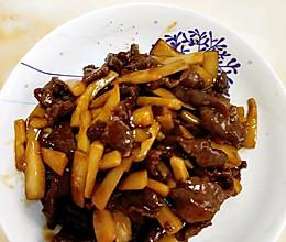 耗油杏鲍菇牛肉的做法
