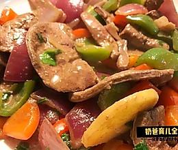 孕妇餐|补铁预防贫血之彩椒爆炒猪肝片(秘方无腥味)的做法