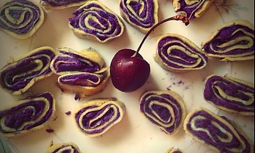 紫薯蛋卷的做法