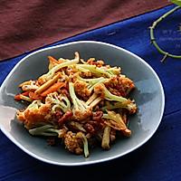 干锅松花菜的做法图解2