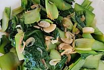 小白菜炒虾皮的做法