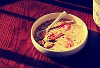 海鲜蔬菜蒸蛋黄膏的做法