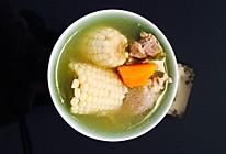 玉米胡萝卜筒子骨汤的做法