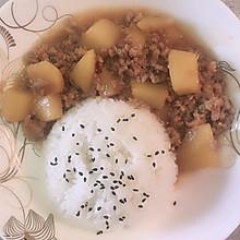 土豆肉末饭