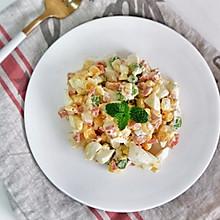 鸡蛋彩蔬沙拉