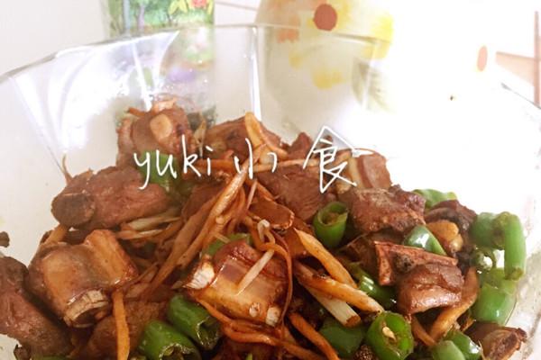 #菁选酱油试用之干煸排骨的做法