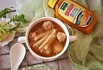萝卜丝肉丸汤#太太乐鲜鸡汁蒸鸡原汤#的做法