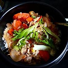 石锅羊肉拌饭