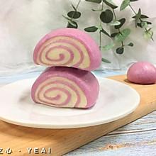 松软紫薯馒头卷