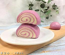 松软紫薯馒头卷的做法