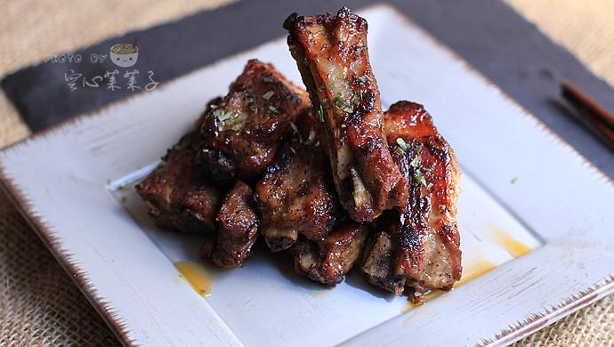 【黑椒酱烤排骨】——零厨艺也能烤出超美味