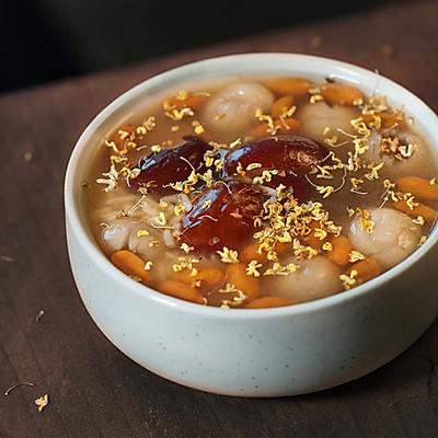 【小森妈妈菜谱】美容红枣桂圆枸杞酒酿汤