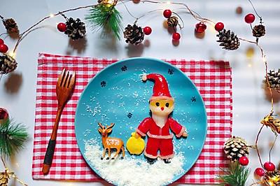 可愛的圣誕老人湯圓