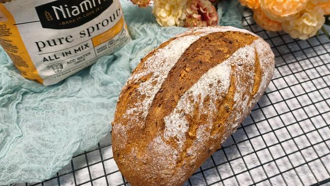 谷物欧包#Niamh一步搞定懒人面包#的做法