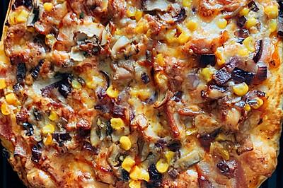超简单的奥尔良鸡肉培根披萨