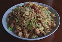 蛤蜊虾仁炒粉干的做法