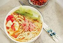 西红柿鸡蛋汤冷面-夏季开胃清爽的做法