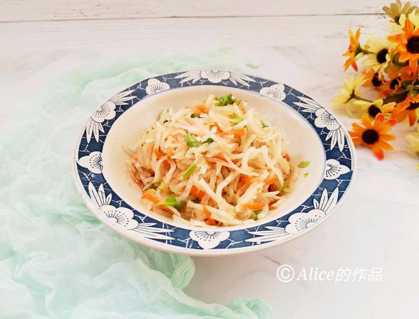 凉拌双丝#中式减脂餐#的做法