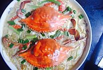 鸡蛋粉丝蒸蟹的做法