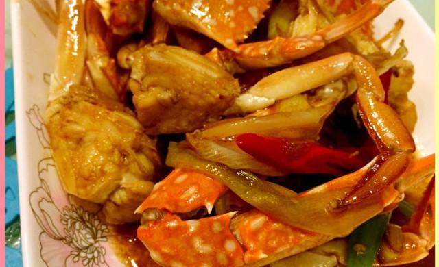 姜葱炒兰花蟹