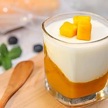 免烤甜品芒果布丁杯,香甜可口,让你清凉度夏