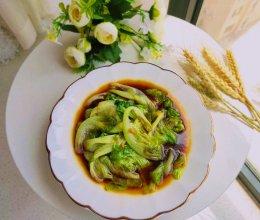 清炒生菜(做法简单2分钟搞定)#我们约饭吧#的做法