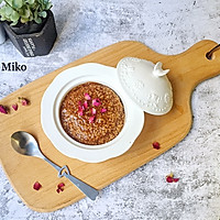 营养早餐——玫瑰黑糖小米粥