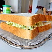 牛油果鸡蛋热压三明治#带着零食去旅行!#的做法图解8