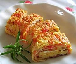 西红柿与鸡蛋的另一做法——西红柿厚蛋烧的做法