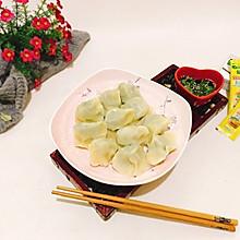 鲜馅小白菜茶干素饺子#太太乐鲜鸡汁蒸鸡原汤#