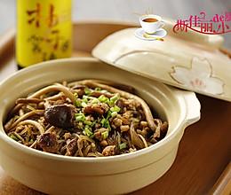 肉末茶树菇粉丝煲的做法