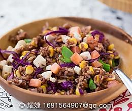 学做能控制体重的轻食料理——红米孜然炒饭的做法