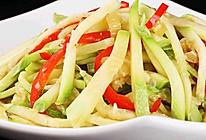 红椒炒西葫芦丝的做法