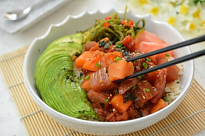 夏威夷poke bowl(鱼生沙拉拌饭)#蔚爱边吃边旅行#