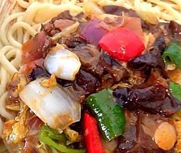 新疆正宗过油肉拌面的做法