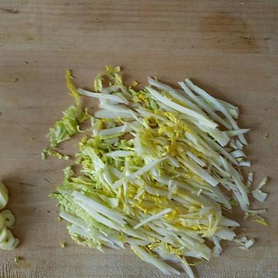 肉末白菜炒面的做法 步骤1