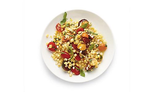番茄罗勒玉米粒沙拉的做法