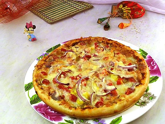 胡萝卜披萨的做法