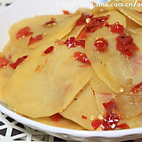 剁椒绝对经典的吃法--剁椒土豆片