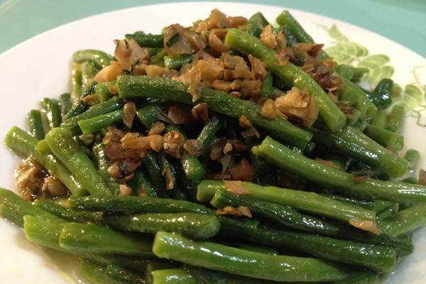 榨菜末带豆的做法