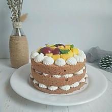 #硬核菜谱制作人#水果可可裸蛋糕