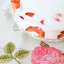 免烤草莓冻奶油芝士蛋糕