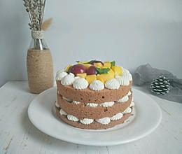 #硬核菜谱制作人#水果可可裸蛋糕的做法