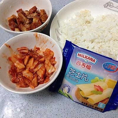 辣白菜鸡排饭的做法 步骤1