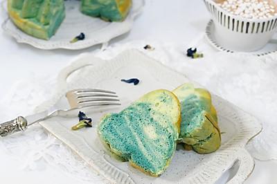 蓝色天空大理石戚风蛋糕