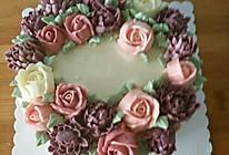 奶油蛋糕裱花蛋糕的做法
