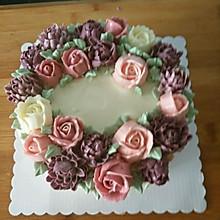 奶油蛋糕裱花蛋糕