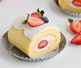草莓酸奶蛋糕卷的做法