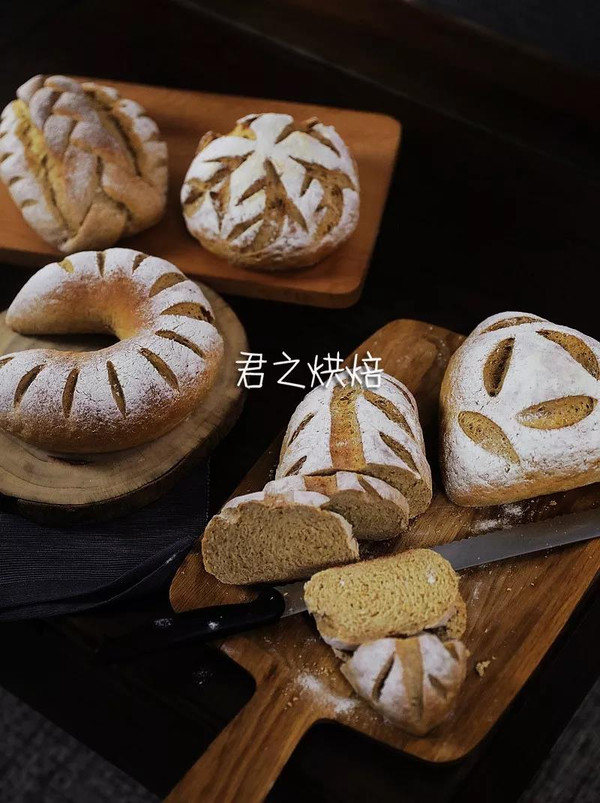五种造型的100%全麦面包,超多的面包制作技巧一次看过瘾!的做法