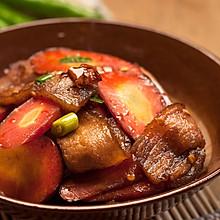 回锅肉炒胡萝卜